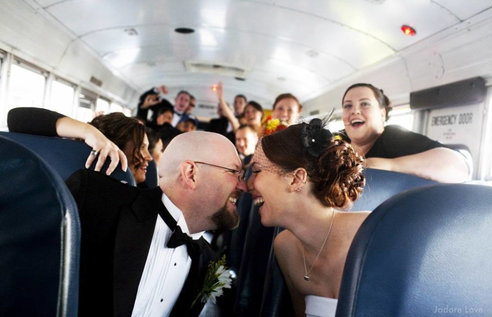 School Bus Wedding Photos