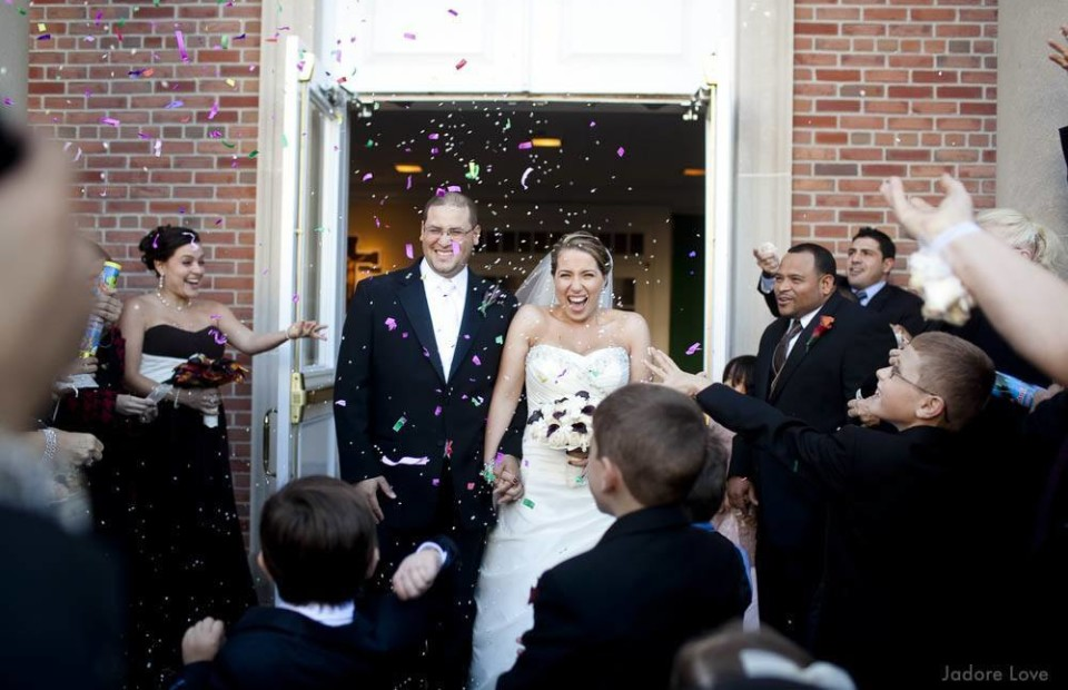 Bride and Groom's Grand Confetti exit