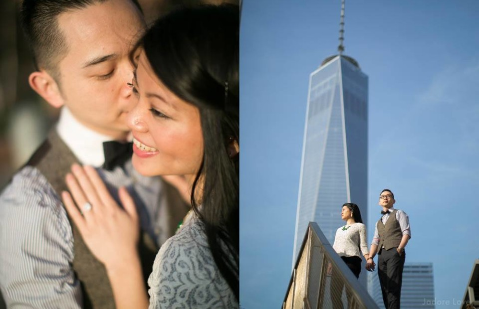 Freedom tower Engagement photos