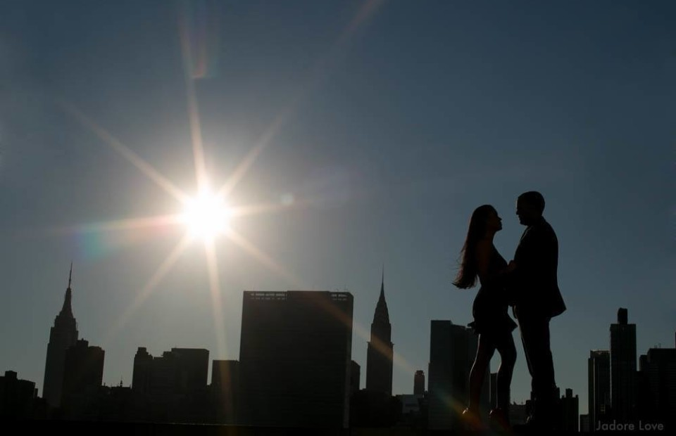 nyc engagement silhouette
